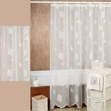 Lace Fabric For Curtains Seashells Lace Shower Curtain