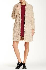 elizabeth and james iris faux fur boyfriend coat nordstrom rack