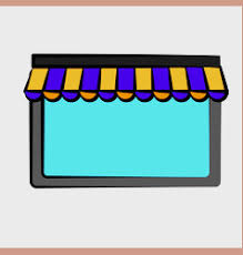 Striped Awning Store With Striped Awning Royalty Free Vector Image
