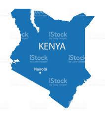 Kenya Africa Map by Blue Map Of Kenya Stock Vector Art 538998517 Istock