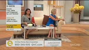 couch tray table and organizer by lori greiner page 1 u2014 qvc com