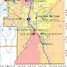 fort carson map fort carson colorado co population data races housing economy