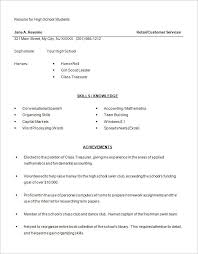 resumes exles for 13 high school resume templates pdf doc free premium templates