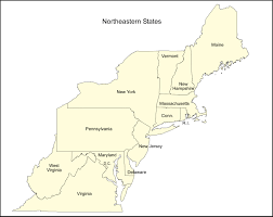 usa map northeastern states map of northeast america east and states in usa throughout