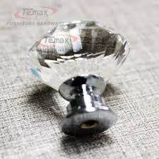 Bedroom Furniture Knobs And Pulls 30mm Zinc Alloy Clear Crystal Sparkle Glass Kitchen Cabinet Knobs