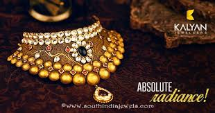 jewellery choker necklace images Gold kundan choker necklace from kalyan jewellers south india jewels jpg
