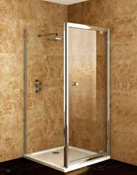 corner shower stalls for small bathrooms with silver frame in one