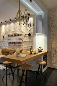 cuisine dans loft comment choisir un ilot central dans la cuisine avec mur de briques