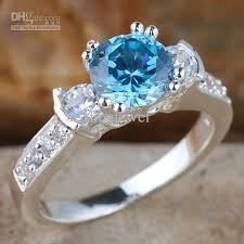 topaz gemstone rings images Women 39 s blue topaz anniversary finger silver ring size 8 wed j8045 jpg