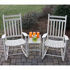 White Rocking Chair Dixie Seating Company 3 Pc Rocking Chair Set With Sidetable
