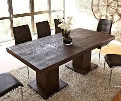 Esszimmer Tisch Massiv Tisch Akazie Tabak 200x100 Cm Massivholz Beine Durchgestossen