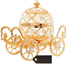 24k gold plated studded large cinderella