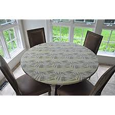 vinyl elasticized table cover amazon com marbled vinyl elasticized table cover home kitchen