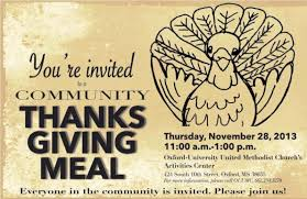 you re invited ouumc s community thanksgiving meal hottytoddy