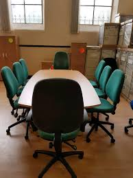 Beech Boardroom Table New Beech Boardroom Conference Meeting Table In Beech Plus 8 Used