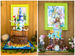 birthday cakes peter pan and tinker bell