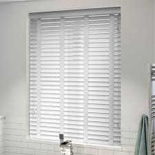 Venetian Blinds Wood Effect White Wooden Blinds Affordable Range Of Tailored Blinds 2go
