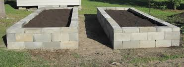 stylish design ideas concrete block raised garden bed design