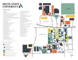 Ohio State Parking Map by Campus Map Delta State University