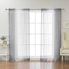 Ombre Sheer Curtains Faux Linen Ombre Border Curtains