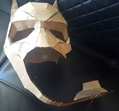 cardboard batman cowl 9 steps with pictures