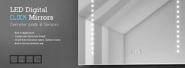 Bathroom Mirror With Clock Led Mirror With Clock Led Digital Clock Mirrors Illuminated