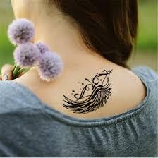 waterproof wing tattoos sticker for cupid arrow style 4