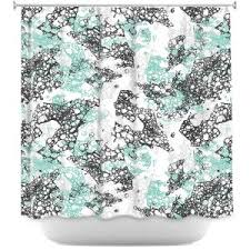 Turquoise And Grey Shower Curtain Artistic Shower Curtains Dianoche Designs