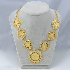 aliexpress buy fashion big size 18k gold plated men 67cm gold coin necklace for women 18k gold plated