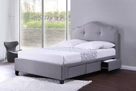 amazon com baxton studio armeena linen modern storage bed with