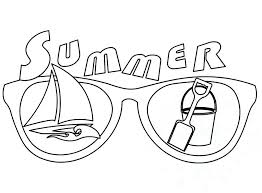summer coloring pages toddlers beach fun colouring