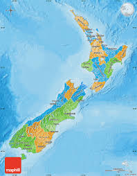 Physical Map Of Italy by Political Map Of New Zealand