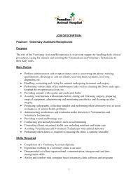 vet assistant resume skills veterinary assistant resume with no