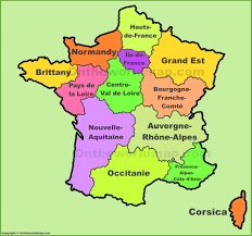 Map Of Brittany France by France Regions Map New Regions Of France
