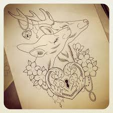 buck and doe tattoo tattoo collections