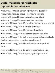 Sales Rep Resume Examples by Top 8 Hotel Sales Representative Resume Samples