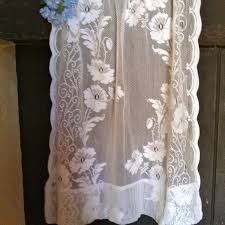 Antique Lace Curtains Antique Lace Curtains Vintage Small Crochet Lace Curtain By
