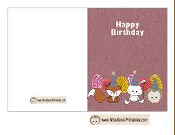 printable birthday ecards cute woodland birthday card printable free birthday printables