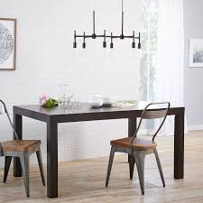 glass parsons dining table angled leg expandable table west elm parsons dining rectangle scoop