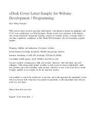 cover letter web developer php web developer cover letter web