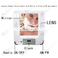 Bathroom Radio Clock Bathroom Hidden Camera Fogless Shower Stereo Radio With Mirror