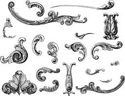 free vectors engraved ornaments vector