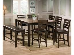 8 Pc Dining Room Set Crown Mark Elliott 8 Piece Counter Height Table And Chairs With