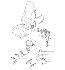 boxster wiring harnesses switch standard seat sports seat