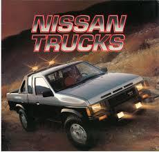 datsun nissan truck 1987 nissan hardbody truck d21 dealer brochure us market nicoclub