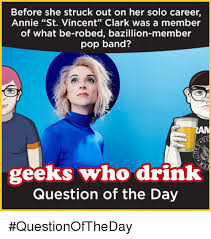 Vincent Meme - before she struck out on her solo career annie st vincent clark was