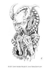 simple evil tattoo horned demon demon drawings