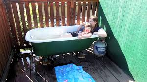 Bathtubs Clawfoot Propane Powered Clawfoot Tub Youtube
