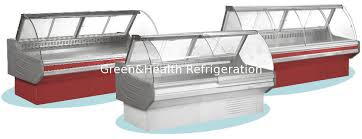 refrigerator red light open front deli display refrigerator red light for butcher