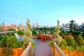 nyc roof garden terrace composite deck planter boxes container